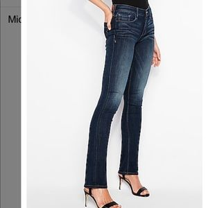 Express mid-rise skyscraper jeans - size 6